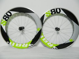 Wholesale 2016 Sram s80 Alloy wheels light Green clincher carbon road wheels C Green carbon bike wheelset A01