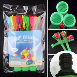 Wholesale Summer Magic Water Balloons Bunch Balloons Plus Joint in Seconds O Water Balloons Toys for Kids Gift