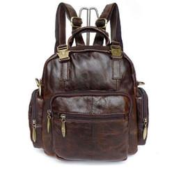 100% Real Leather Vintage Leather Lady Mini Backpacks Bicycle Travel Bag School bag Shoulder Bag 2546