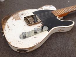 Wholesale Custom Shop Deluxe Tele Caster White Blonde handwork RELIC TL electric guitar