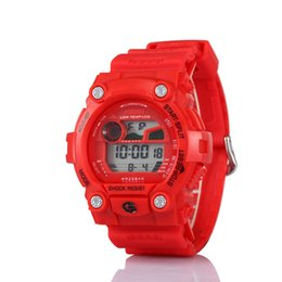 Wholesale 2016 Fashion Mens Watch Waterproof Sports Military Watches Shock Luxury Analog Digital Sports Watches Colors