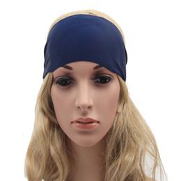 Navy headband wide jersey women headband,Eco friendly Yoga headband ,Running headband Gym women hair accessory