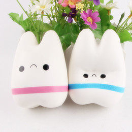 10.5cm Upscale Jumbo Squishy Cute Adorable Teeth Soft Slow Rising Jumbo Squeeze Cell Phone Strap Toy