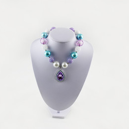 Purple AMULET Rhinestone Pendant necklace Princess Sofia Pendant necklace Girl Chunky Necklace Pendant Character Bubblegum Beads Party Favor