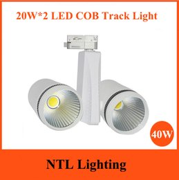 Wholesale New Design WX2 Double Head LED Track Light W COB Tracking Lights wire rail For Clothing store Bar showroom fixture