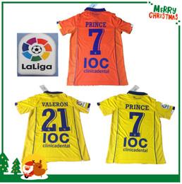 Wholesale 16 Las Palmas football shirts sports jersey Yellow PRINCE VALERON orange soccer LFP La Liga