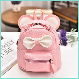 Wholesale News Korean Girl Backpack Fashion Children Pu Leather Bownot School Bag Children Kids Cartoon Shoulder Bags