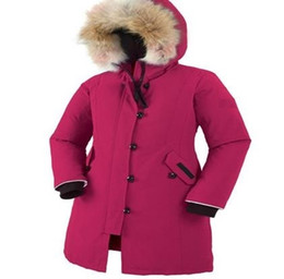 Girl's outdoor down jacket thickening cold resistant thermal coat