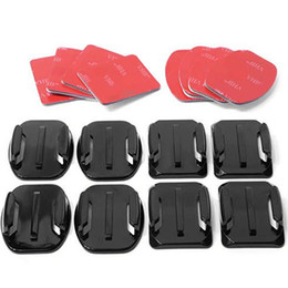 Wholesale 4 Flat Curved Adhesive Mount Helmet Accessories for Gopro Hero Kit W