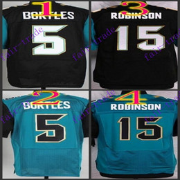 Wholesale NIK Elite Football Stitched Jaguars Blake Bortles Allen Robinson Black Blue Jerseys Mix Order