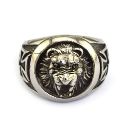 Free Shipping Newest Design Animal Ring Stainless Steel Lion Ring With Wholesale Price Punk And Rock Jewelry For Men