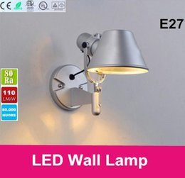 Wholesale 2016 LED bulbs wall lamp indoor bed lights E27 W metal aluminium lamp shade Italy classical design
