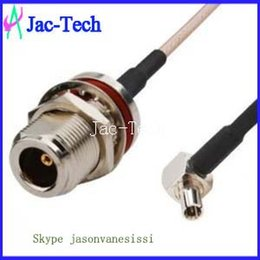Wholesale 100x RF pigtail cable TS9 male right angle to N female bulkhead with RG316 coax cable assembly G wireless router