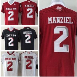 Wholesale New College Football Jerseys A M Texas Aggies Johnny Manziel Jersey White Red Black Best Stitched Quality For Men