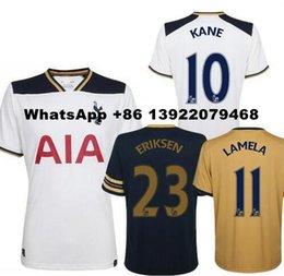 Wholesale Tottenham Thai Soccer Jersey Mason Kane Lamela Alli Lloris RD third Away Gold Yellow Jerseys