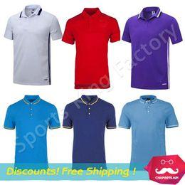 Wholesale Best quelity Soccer Polo jersey POLO shirt collar shirt cotton Spectators soccer jerseys football club training polo jersey