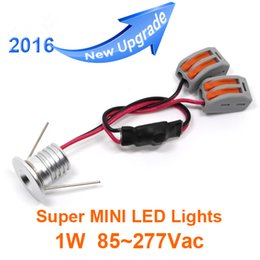 50pcs Lot 1W Mini LED downlight white round ceiling spot lights 110V 220V Recessed Aluminum lamp Warm White hole size 15mm