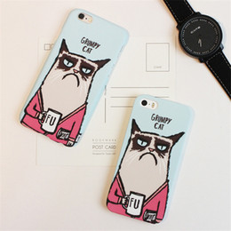 Cute Cartoon Cell Phone Cases Lovely Fashion Creative Grumpy Cat Phone Covers for iphone 6s 5s 71