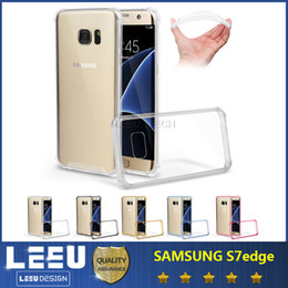 Wholesale For galaxy note shockproof case iphone s plus Samsung s7 edge anti shock case transparent soft tpu case acrylic hard back cover in
