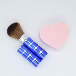 Wholesale Retractable Dome Blush Brush Aluminum Eye shadow Brushes Make up Accessories Cosmetic Makeup Tools Women Girls WB0240