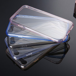Wholesale Cell Phone Crystals Cover - Transparent Plastic Case For iPhone7 Plus Crystal Clear DIY Case Back Cover Cell Phone Cases Soft TPU Case Free Shipping to All Country