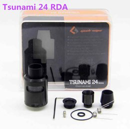 Wholesale AAA quality Tsunami RDA Glass Window Atomizer with Adjustable Airflow Various Drip Tip Electronic Cigarettes Tsunami tank