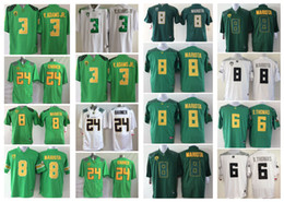Wholesale Oregon Ducks Men Jersey Vernon Adam Jr De Anthony D Thomas Marcus Mariota Kenjon Barner Mens College Football Jerseys White Blue