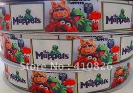 Wholesale ribbon inch mm the muppets cute cartoon printed grosgrain ribbon yards roll for headband hair tie