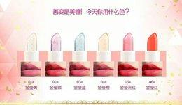 Wholesale 2016 fashion to share hot makeup gold through the foil gold color lipstick non stick non stick lipstick lipstick
