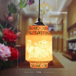 2016 Retro Vintage Pendant Light Indoor Light Home Decor Chinese Style Cord Ceramic Lamp Pendant Lighting For Restaurants