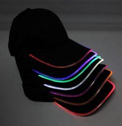 Hot Men's Women's LED Fashion sports Baseball cap Performer nightclub Hip hop party Baseball cap night running led lighted up glow hat Visor
