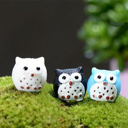 4colors artificial birds owl fairy garden miniatures mini gnomes moss terrariums resin crafts figurines for garden decoration