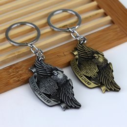 Wholesale American Legend Motor Harley Cycles Eagle Logo Vintage Metal Keychain Keyring For Men High Quality Jewelry Key Accessorise
