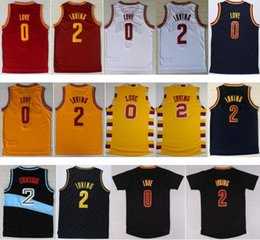 Wholesale 2016 Men Kyrie Irving Jersey Rev New Material Kevin Love Shirt Uniform Fashion Trowback Red White Yellow Black Navy Blue Best Quality