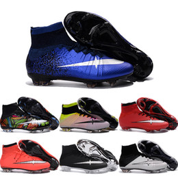 Cheap Soccer Shoes Mercurial Superfly FG Men High Quality 2016 ACC CR7 Football Shoes For Sale Cleats Cheap Sports Boots Size 39-45