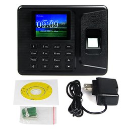 Wholesale Biometric Fingerprint Time Clock Recorder Recording Attendance Employee Digital Machine Electronic Standalone Punch Reader Time Clock F6153A