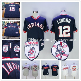 Wholesale Francisco Lindor Jersey Cleveland Indians Jerseys Blue Pullover White Grey Flexbase