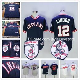Wholesale Francisco Lindor Jersey Cleveland Indians Jerseys Blue Pullover White Grey Flexbase