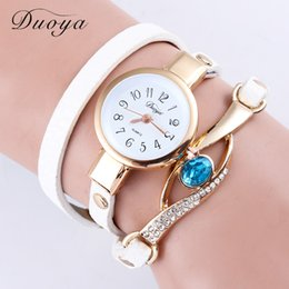 Wholesale Leather Watches For Women Cheap - Wholesale Luxury crystal Watches Quartz Dress Wrap Watch Lady Leather Cheap Bracelet Wristwatches For Women