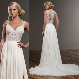 Wholesale Sequin Short Dress Feathers - sexy chic romantic wedding dresses 2016 side split long train off the shoulder sweetheart neckline lace bodice chiffon skirt