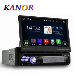 Wholesale Quad Core Android Single Din quot Universal Car DVD Player With GPS Navigation Autoradio Stereo Central Multimedai System