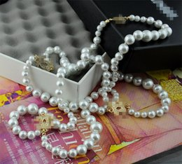 Wholesale High quality Luxury designer Italian fashion Long pearl necklaces with CZ diamond Symbol accesories party jewelry for women