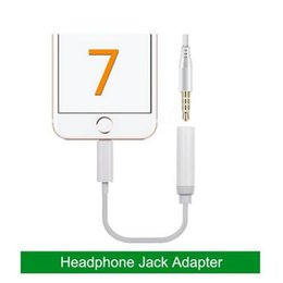 Wholesale 3 mm Jack Aux Audio Cable Male To Female Headphone Cable Adapter for iPhone Plus opp bags