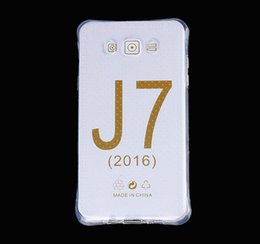 Wholesale Best Quality Clear Cell Phone Cases for Samsung Galaxy J7 J5 J1 Airbag Anti Shock TPU Soft Mobile Phone Covers WZ0116