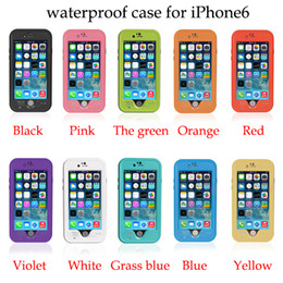 Redpepper Waterproof Case For Iphone 6 4.7 Plus 5.5 Shockproof Snowproof Hard PC TPU Back Cover fingerprint Retail Package 20pcs