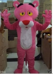 Adult pink panther cartoon mascot costume role playing dress dress up free shipping