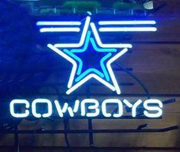 2017 signes de cow-boy Cowboys Stars Neon Sign Custom LOGO Tube en verre véritable artisanal Neon Beer Bar Club Pub KTV Publicité Affichage Neon 17