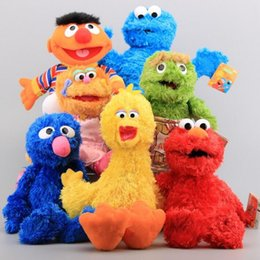 Wholesale 7 Styles Sesame Street Plush Toys Dolls Elmo Cookie Monster Big Bird Stuffed Plush Soft Dolls Children Plush Toys Gifts PPA145