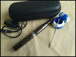 Wholesale aura vaporizer e cigarette wax concentrate smoking pen dual quartz coil heating deep bowl wax oil burner ego pen top seller