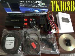 Wholesale Hot TK103B remote control tracking Car Vehicle GSM GPRS GPS Tracker Free PC version Software with remote control TK103A Updated Version